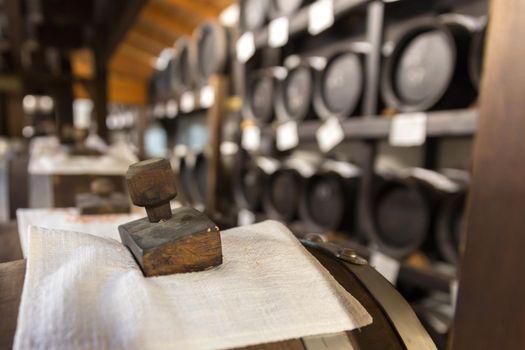 balsamic vinegar wooden barrels storing and aging