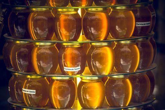 jars of honey as delicious nutrient ingredient