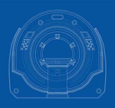 CT scanner, MRI machine. Vector