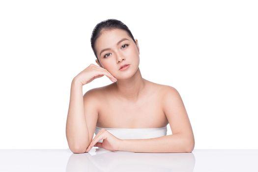 Skin care. Beautiful Asian Woman Portrait. Cosmetology , beauty and spa.