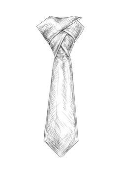 Hand Drawn Tie