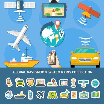 Navigation Icons Set Background
