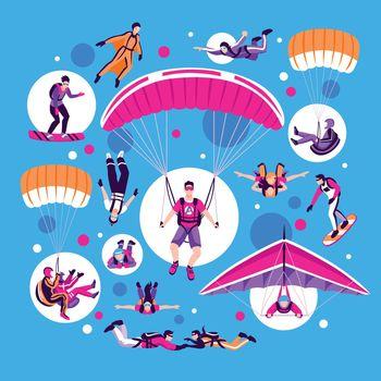Skydiving And Parachuting Set