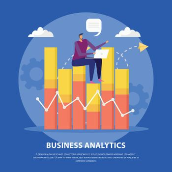 Business Analytics Flat Concept