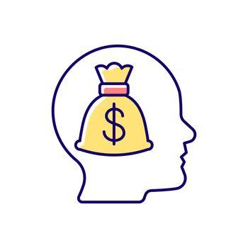 Money reward RGB color icon