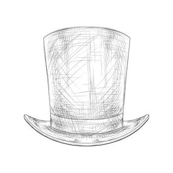 Hand Drawn Top Hat