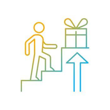 Reward based motivation gradient linear vector icon