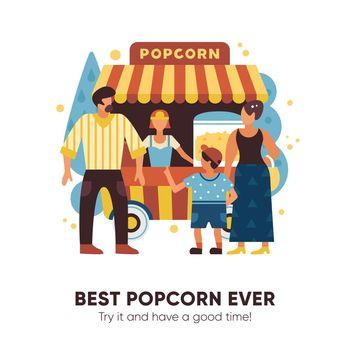 Popcorn Van Illustration