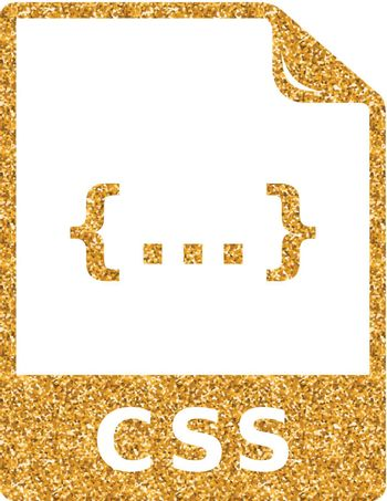 Gold Glitter Icon - CSS file format