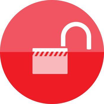 Circle icon - Padlock unlocked