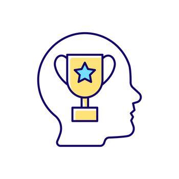 Achievement motivation RGB color icon