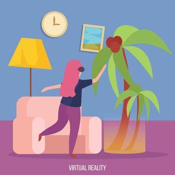 Virtual Reality Orthogonal Background