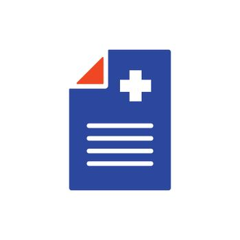 Medical report, clinical record vector glyph icon