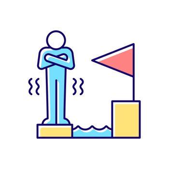 Fear of failure RGB color icon
