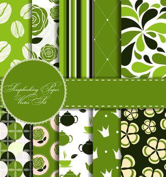 Set of Beautiful Vector Paper for Scrapbook
