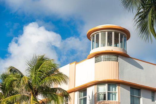 Art Deco building in the Art Deco District in South Beach, Miami