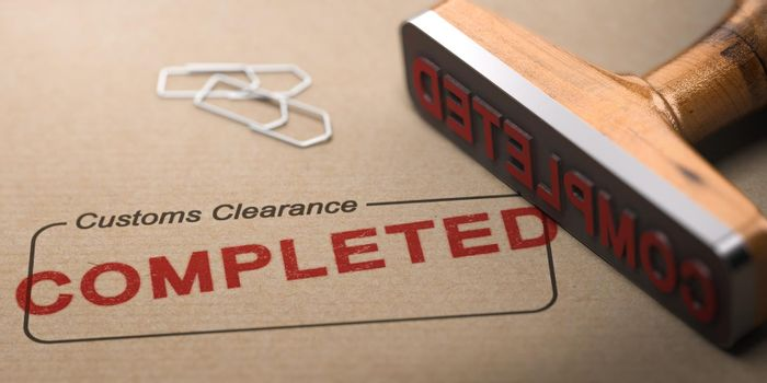 Import or export customs clearance completed.