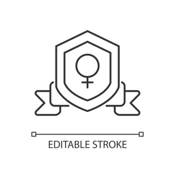 Feminist organization linear icon