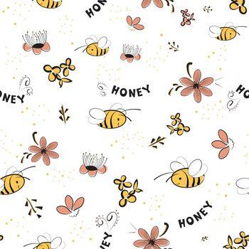 Seamless pattern for honey