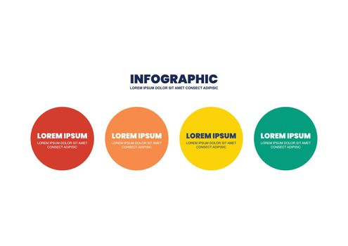 Four steps circle infographic design