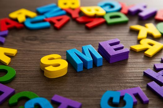 Business model. Key to success. SME Small and Medium-sized Enterprises Concept