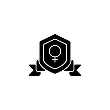 Feminist organization black glyph icon