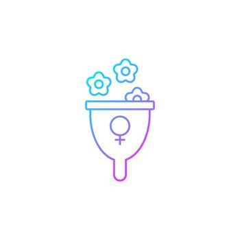 Femininity symbol gradient linear vector icon