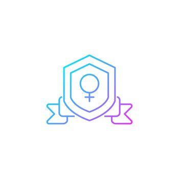 Feminist organization gradient linear vector icon