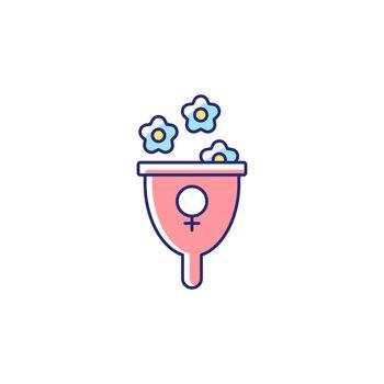 Femininity symbol RGB color icon