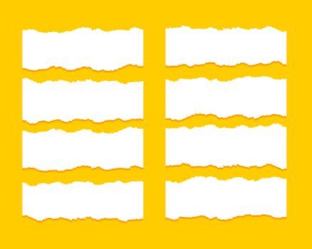 torn ripper paper sheet textures set of eight