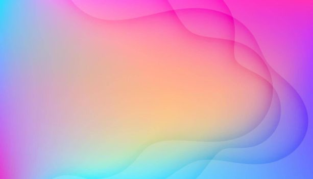 beautiful colorful background with wavy lines