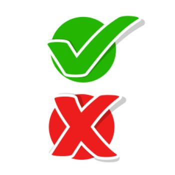 flat check mark and cross stickers
