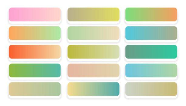 soft pastel colors gradients big set