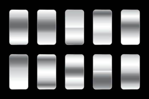 metallic silver gradients premium set