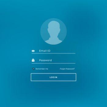 login tamplate in blue theme