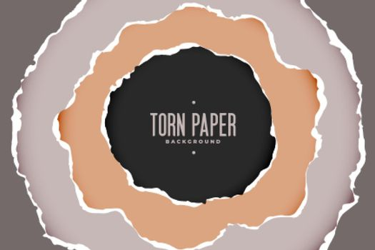 torn paper background in circular style