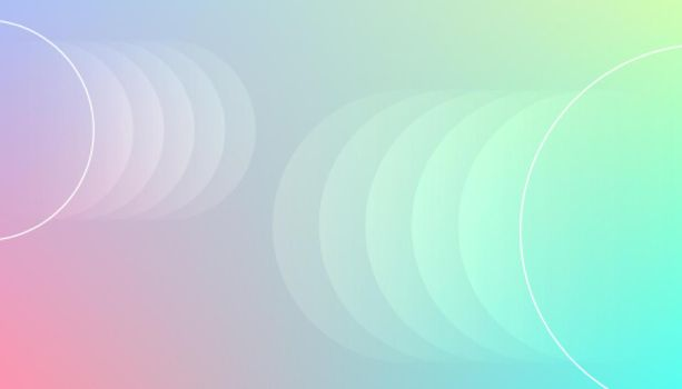 stylish colors background with circles