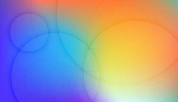 colorful background with circular lines
