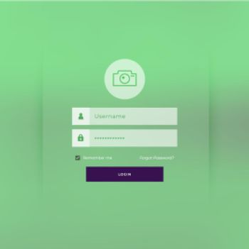 green theme login page template design