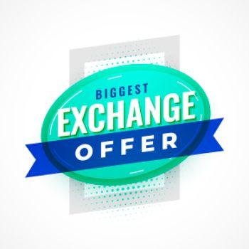 flat exchange offer poster design