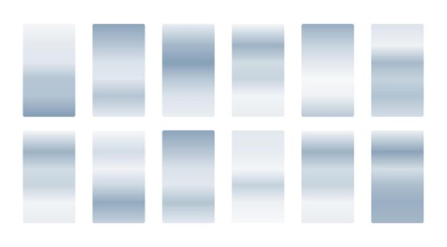 metallic silver soft gradients set