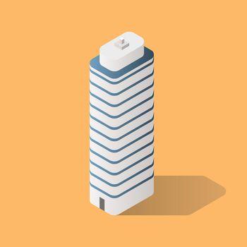 Isometric Futuristic Building