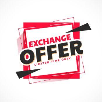 exchange offer trendy banner design