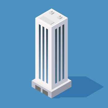 Isometric Skyscraper Building