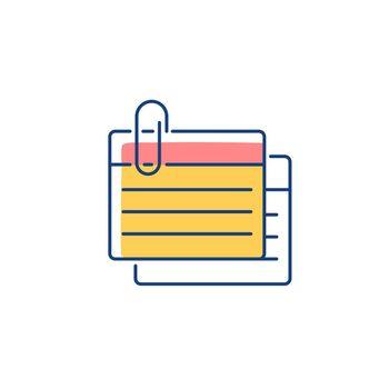 Index card RGB color icon