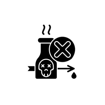 Illegal poison hunting black glyph icon