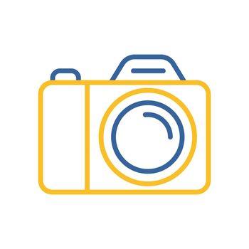 Camera vector icon. Camping and Hiking sign