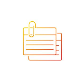 Index card gradient linear vector icon