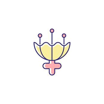 Gender symbol for female RGB color icon