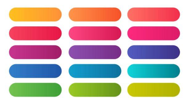 elegant colorful gradient shades big set